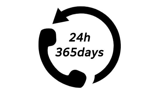 24時間365日 スピード対応!