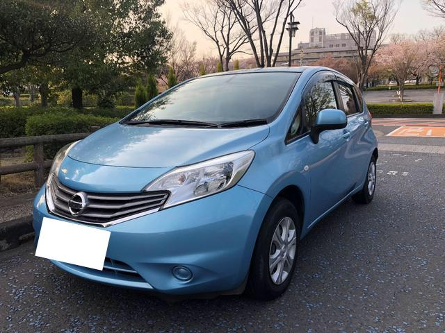 日産ノートX金融車、フロントボディ
