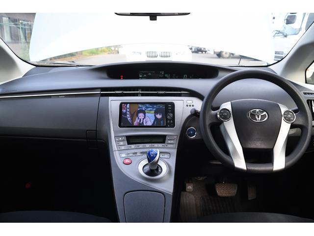 プリウスS金融車、ハンドルメーター