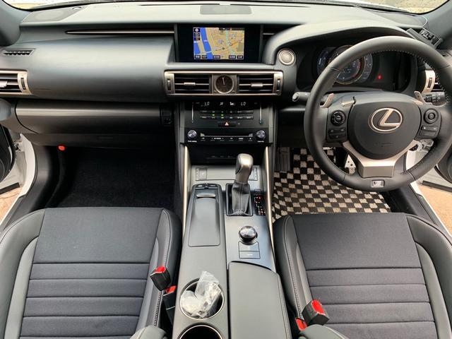 レクサスIS,金融車,運転席